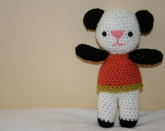 Penny the Panda Bear Crocheted Stuffed Animal Plush Plushie Crochet Softie READY TO SHIP