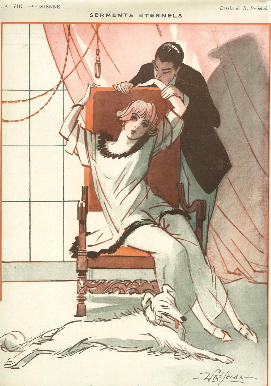 art deco print 1922 la vie parisienne french fashion magazine. Black Bedroom Furniture Sets. Home Design Ideas