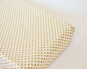 Changing Pad Cover Metallic Gold Dots- Gold Changing Pad- Metallic Changing Pad- Metallic Gold Changing Pad- Changing Pad Cover-Gold Bedding