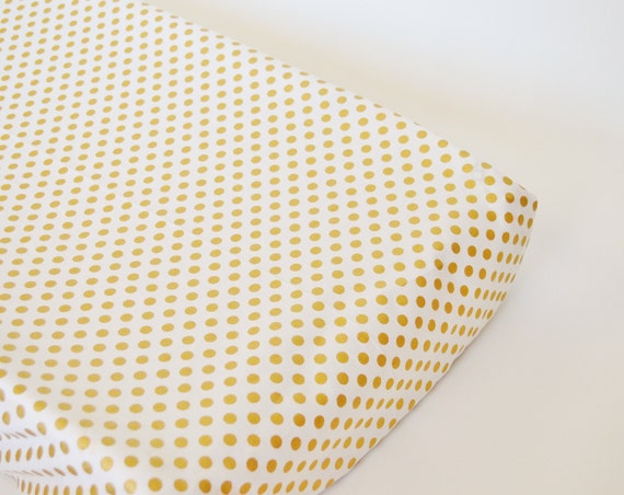 Metallic Gold Dot Fabric Cover Metallic Gold Dots