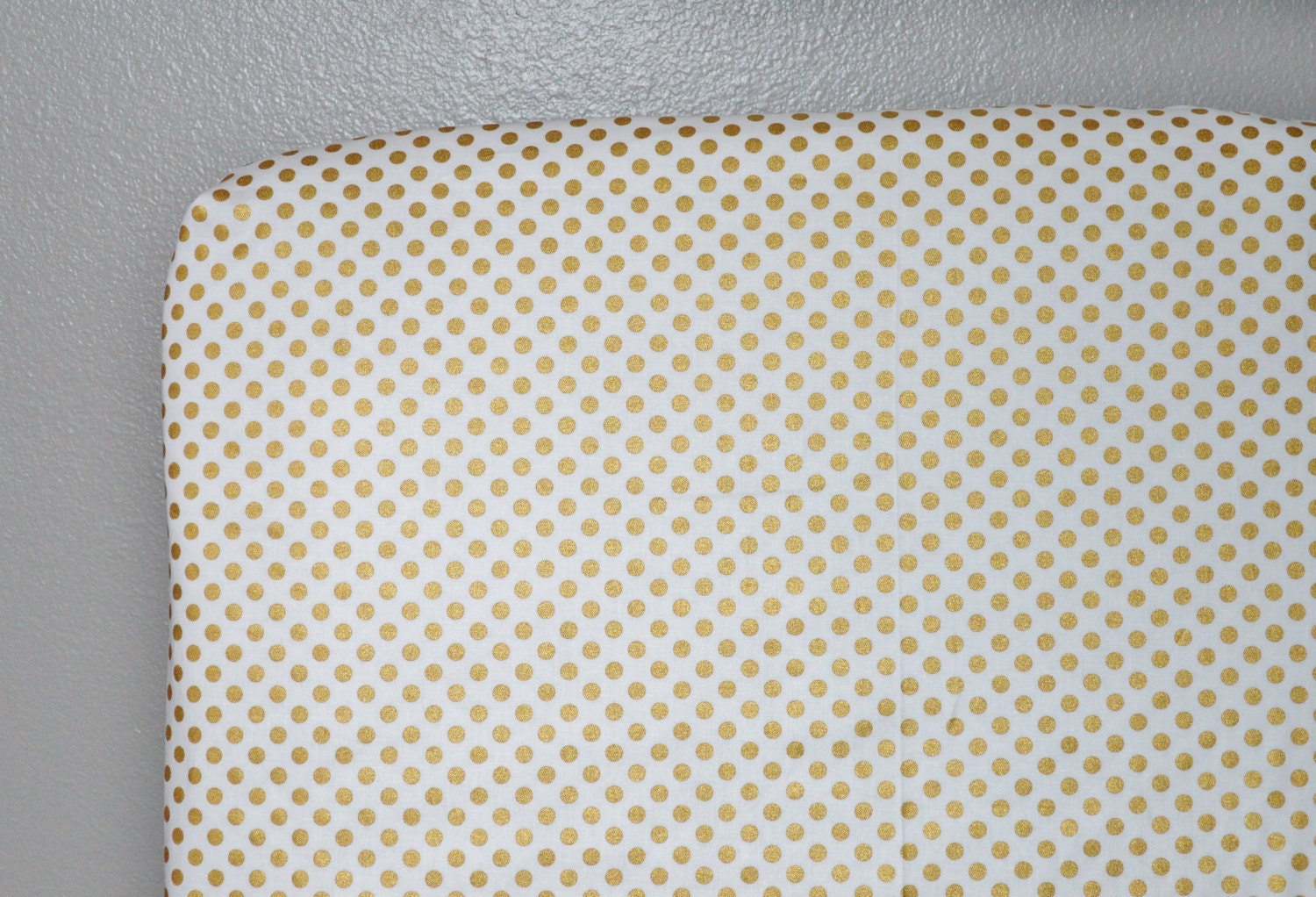 Metallic Gold Dot Fabric Metallic Gold Dots