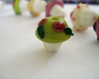 Cupcake Lampwork Glass Beads