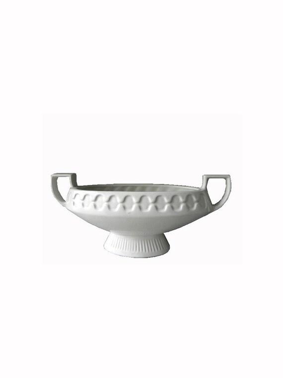 Vintage Boat Vase - White - Arthur Wood - Staffordshire
