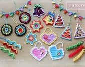 Crochet Patterns - Big Crochet Christmas Party (Pattern No. 006) - INSTANT DIGITAL DOWNLOAD