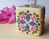 Reed Oil Diffuser Bottle, polymer clay decorated glass container