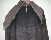 Sale! Sale On Winter Coats! Game of Thrones Inspired Coat of Felted Wool in Black, Taupe and Brown