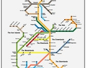 Westeros Transit System Poster // Game of Thrones Map