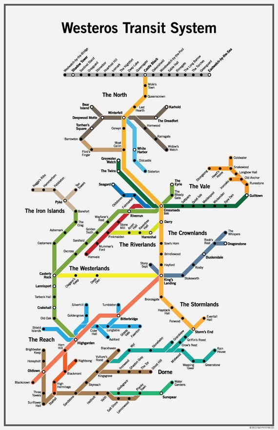 Westeros Subway Map 2