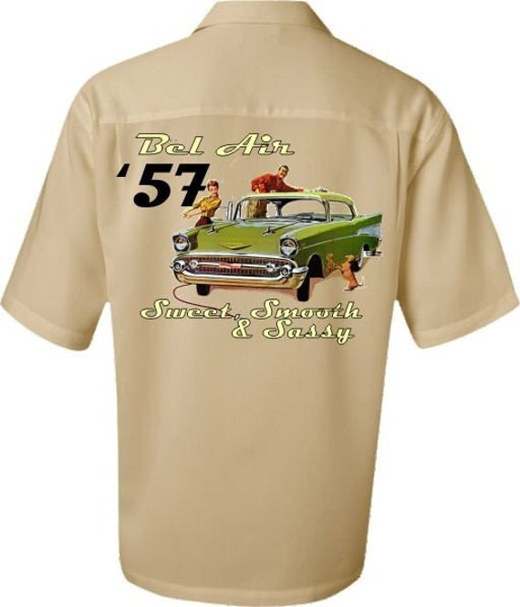 items similar to classic car shirt 1957 chevy bel air. Black Bedroom Furniture Sets. Home Design Ideas