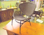 Tempestini Salterini - Retro Modern Wicker Orbit Radar Clam Shell Chair - Fantastic Design - Treasury Item - Reserved for SUSAN till 2/10/15