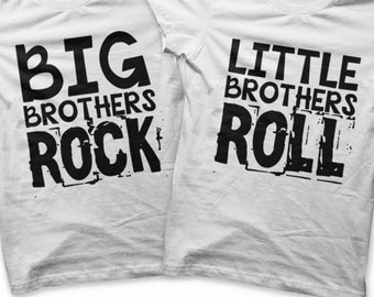 Iron on Brothers Shirt PDF - Rock and Roll Iron on Transfer / Big Brothers Shirt / Little Brothers Tee / Rock and Roll Kids Clothing -R