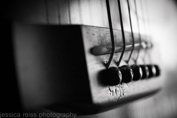 black and white acoustic guitar photography art by jessicareisspix. Black Bedroom Furniture Sets. Home Design Ideas