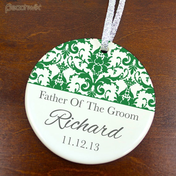 Father of the groom ornament wedding favor anniversary keepsake