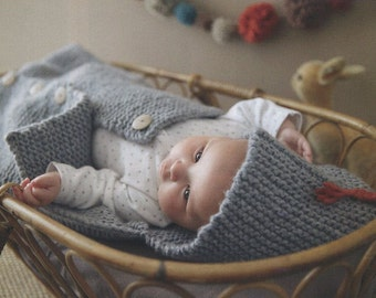 ENGLISH Super Easy Baby Sleeping Bag Knitting Pattern PDF