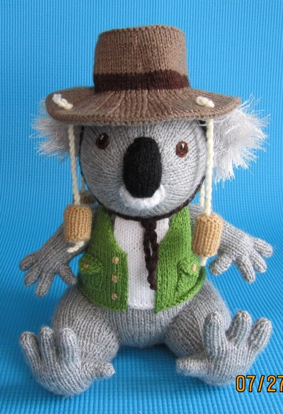Knitting Patterns Toys Alan Dart : Items similar to Hand Knitted Toy Outback Ossie from Alan Dart pattern