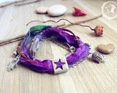 Buddha Hamsa Hand wrap bracelet. Zen bracelet, Buddha jewelry, yoga bracelet zen jewelry buddhist bracelet, boho bracelet butterfly bracelet