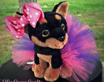 Dog Tutu:  Bubblegum Pink & Purple Doggie Tutu