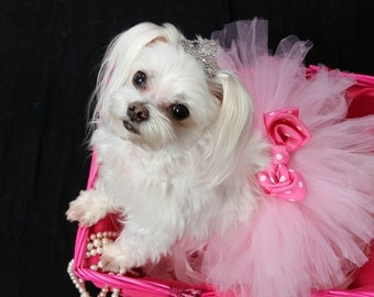 Dog Tutu: Baby Pink Doggie Tutu - Small, Medium, Large