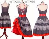 July 4th 1950s Dress Polka Dot Red White Blue Full Swing