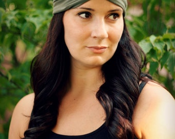 Olive Turban Wrap Headband