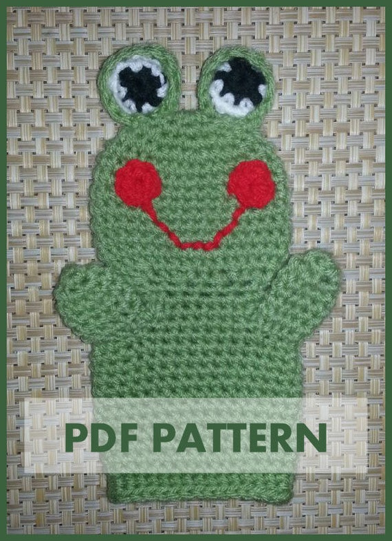 patterns library frog hand puppet