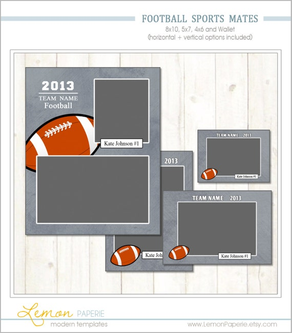 items similar to football memory mate templates sports template psd photoshop template sm206. Black Bedroom Furniture Sets. Home Design Ideas