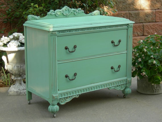 Painted antique dresser order custom we restore and - Muebles shabby chic ...