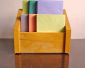 simple vintage wooden letter file box in oak stain / New Year get organized