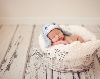 Newborn Boy Choose 2 Colors Newborn Aviator Hat - Made to Order