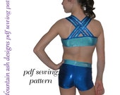 Training Wear Separates 3 sewing pattern crop singlet tank shorts gymnastics dance