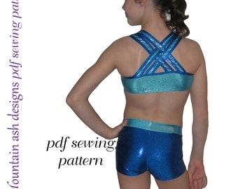 Training Wear Separates 3 sewing pattern crop singlet tank shorts gymnastics dance