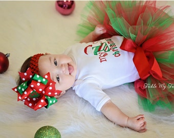 My First Christmas Tutu Outfit-My First Christmas Tutu Set-Baby's First Christmas *Bow NOT Included*