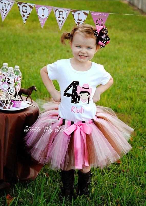 Birthday Cowgirl Tutu Outfit Cowgirl Party Tutu Set