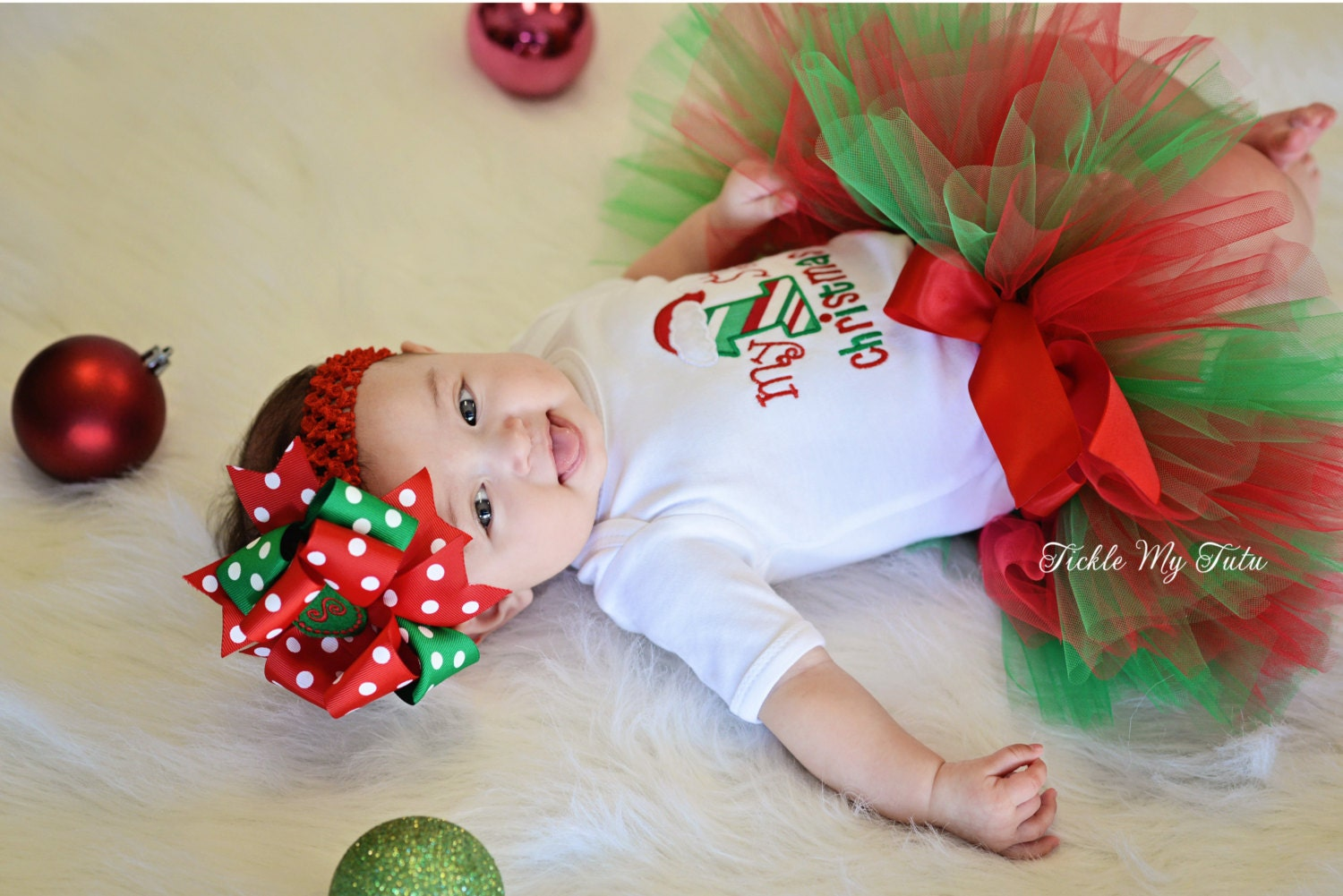 My First Christmas Tutu Outfit-My First Christmas Tutu