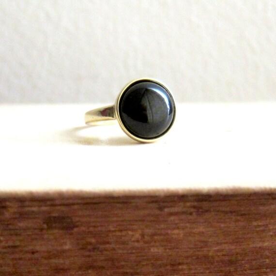 black stone gold ring - photo #32