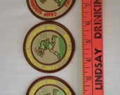 Three (3) Camp Geronimo Tenderfoot Run Boy Scout Patches