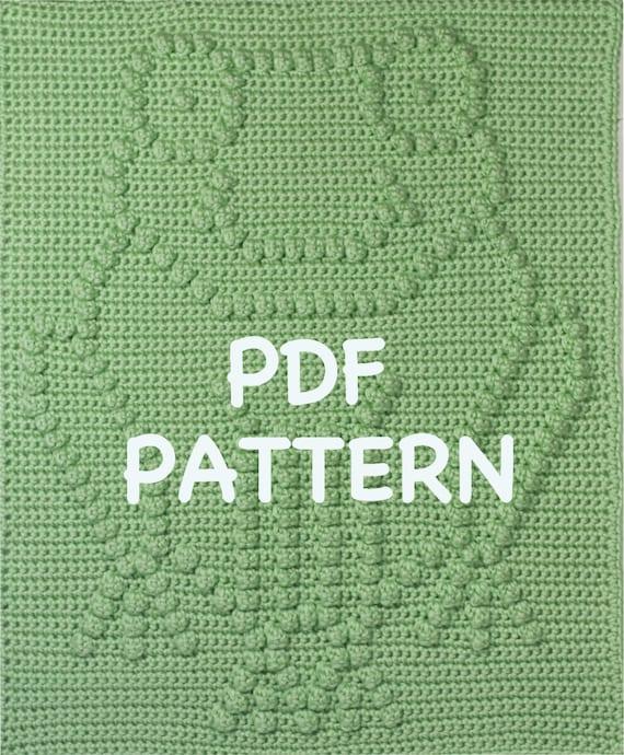 Frog Baby Blanket Pattern - Crochet Pattern - Crochet Baby Blanket  - Baby Snuggle Blanket  - Car Seat or Stroller Blanket