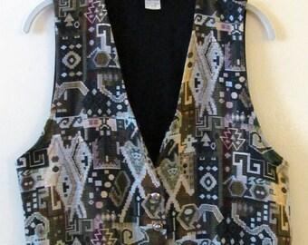 Jacquard Folk Art Vest M 38 Bust
