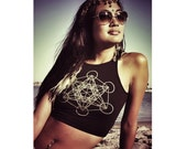 METATRON'S Cube Fitted Crop Tank