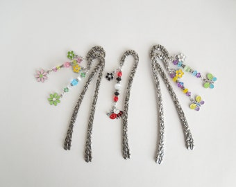 Flower Bookmark, Butterfly Bookmark, Bumble Bee Bookmark, Pewter Bookmark, Book Lover, Book Lover Gift, Avid Reader, Store Closing