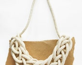 Knitted Rope Necklace - Natural Cotton
