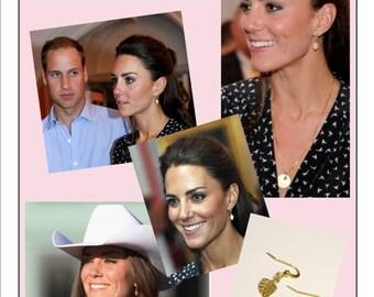 Mini Gold Leaf Earrings .... Kate Middleton Inspired Look for Less
