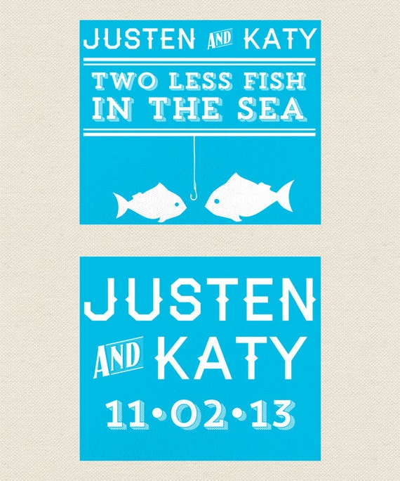 Unavailable listing on etsy for Two less fish in the sea