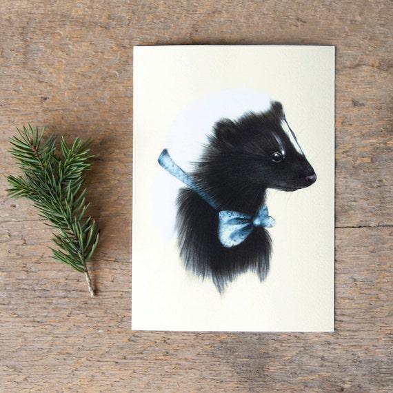 Baby Skunk Print 5x7 Giclee Print