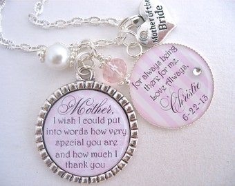 Special Wedding Gift For Daughter In Law : ... Special you are Wedding inspirational quote Necklace Daughter in law