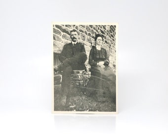 Antique Photograph Early 1900s Old Photo Rural Couple