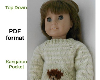 Knitting Patterns For Journey Girl Dolls : Popular items for doll sweater pattern on Etsy