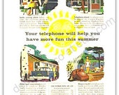 Bell Telephone Ad 1956 Your Telephone Will Help You Have More Fun This Summer