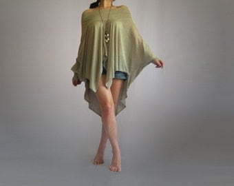 Oversize, Wide and Loose Tunic / Dress - Multi Way Blouse, made from Soft Cotton blend fabric/CH001