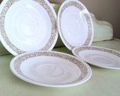 Vintage Brown Woodland Floral Pattern Saucers-4 available